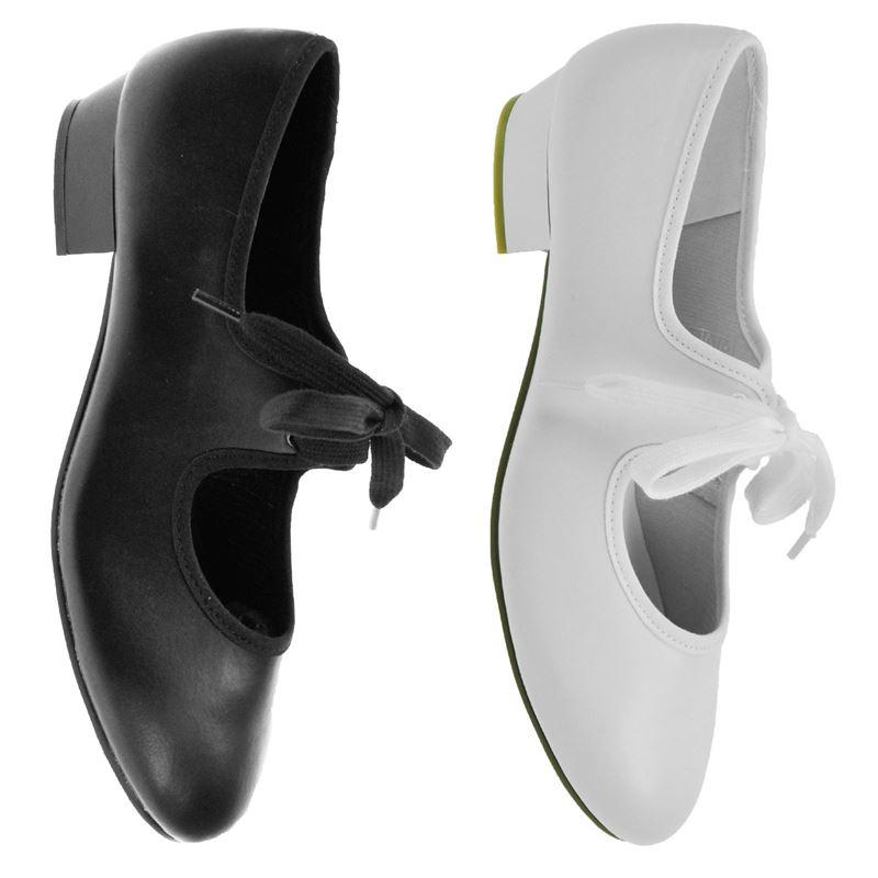 Starlite Weiß Patter PU Tap Schuhe 5 L iADO3WE3