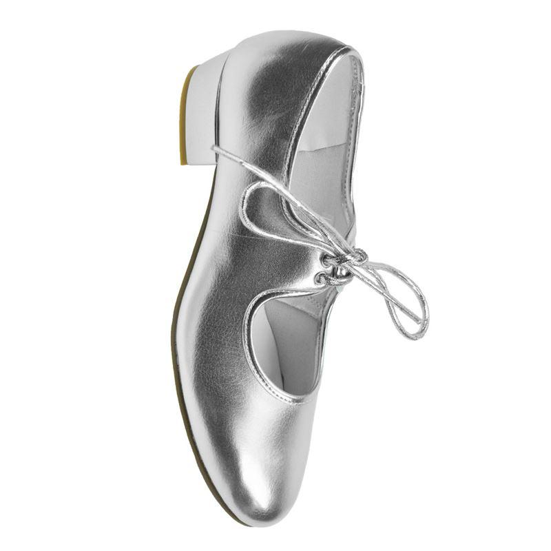 Starlite Silber PU Tap Schuhe 9 s J47uh