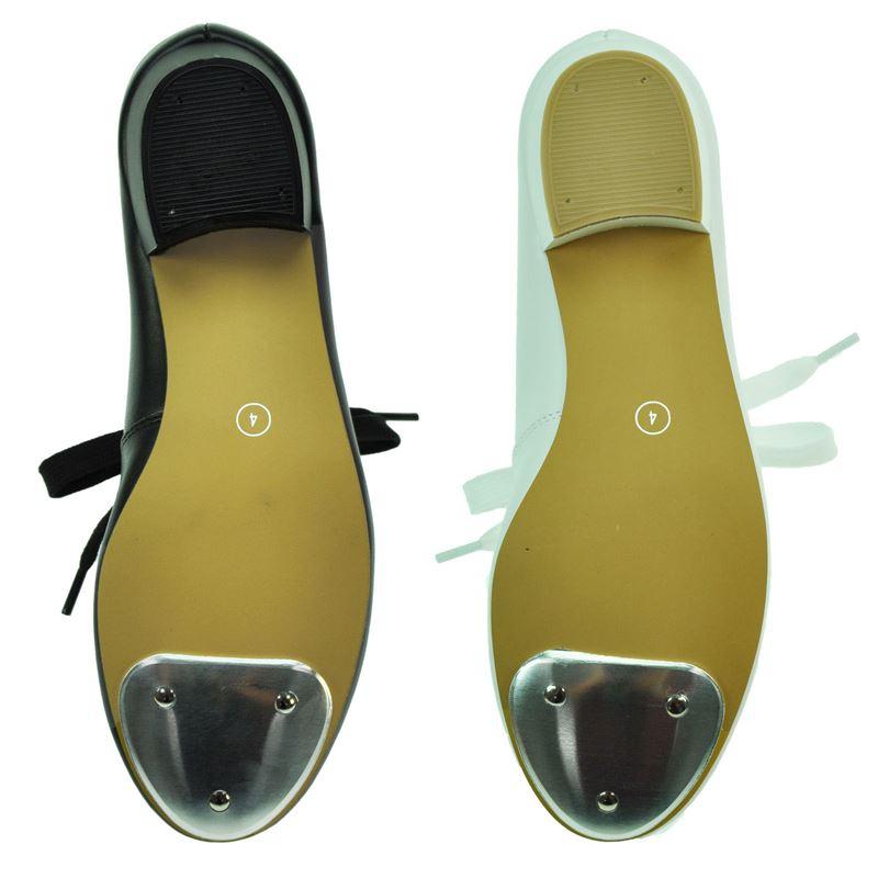 Starlite Weiß Patter PU Tap Schuhe 5 L pBpdj