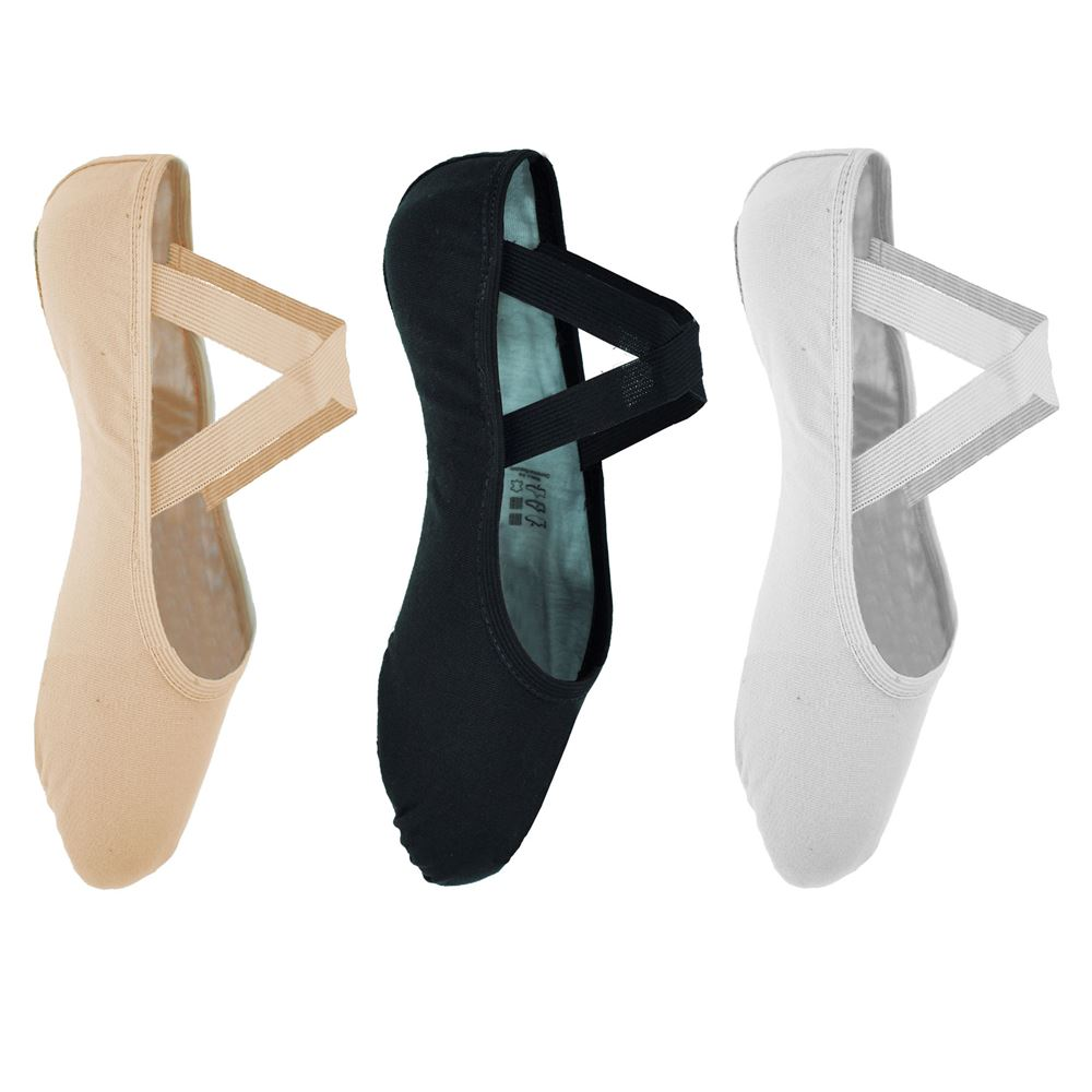 So Danca Split Sole Canvas Ballet Shoes SD120 Pink or White Left and Right shoe Clothes, Shoes & Accessories