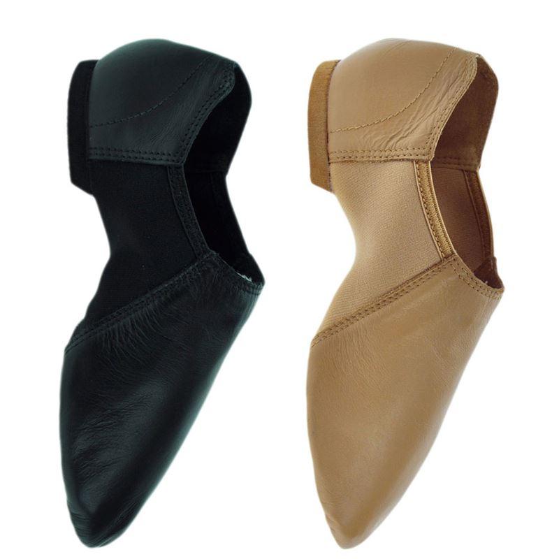 Leo Black Leather Gioflex Jazz Boot LS4006 in Size 6