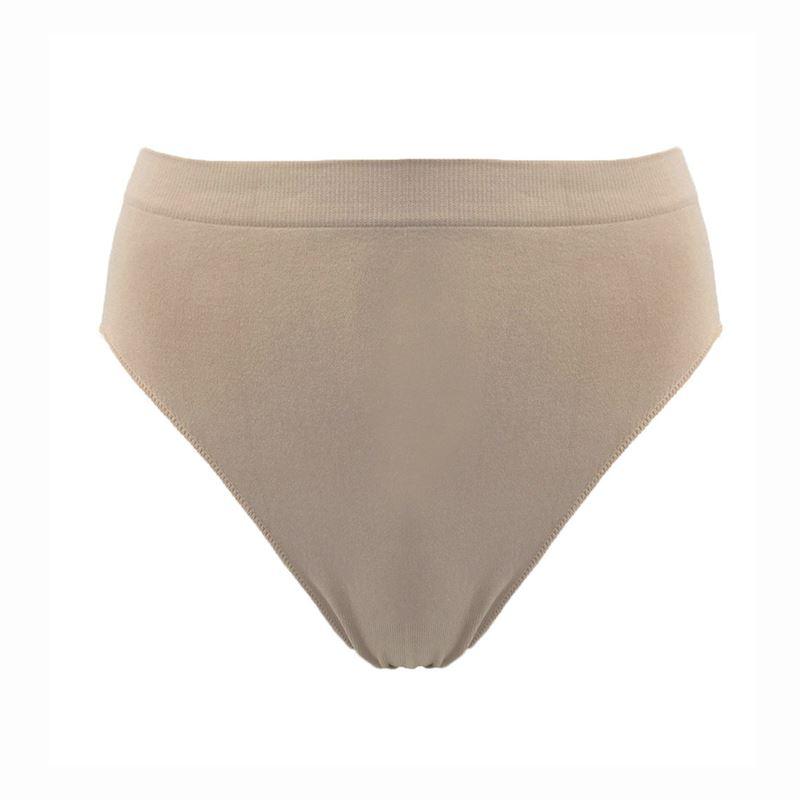 Nude Silky Dance Ladies Seamless High Cut Brief