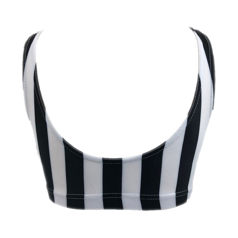 NEW  Starlite Calaboose Catsuit Black and White Stripe