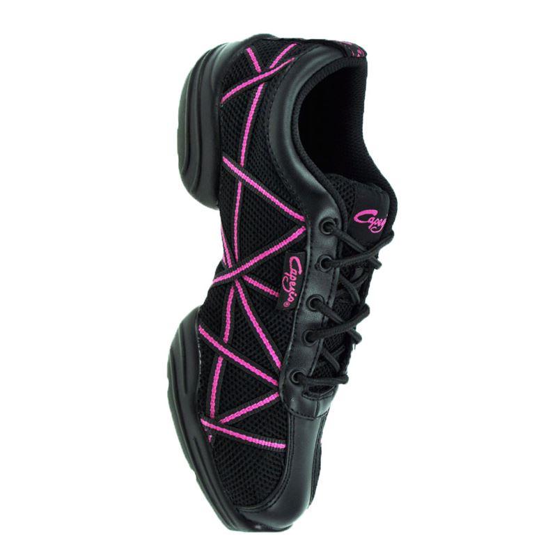 sale retailer 95885 14ada Capezio® DS19 Black/Pink Web Dance Sneaker